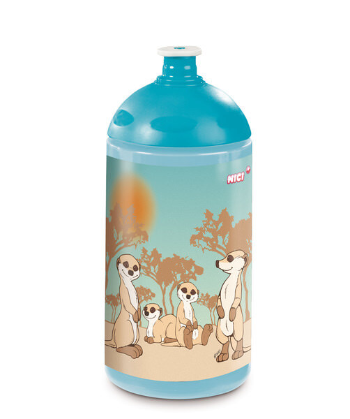 Sports bottle meerkat family
