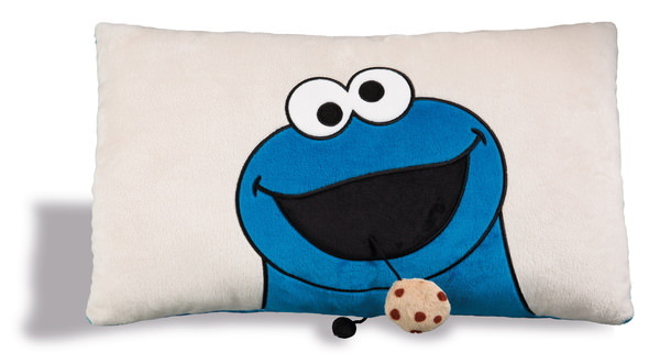 Rectangular cushion Sesame Street with Cookie Monster