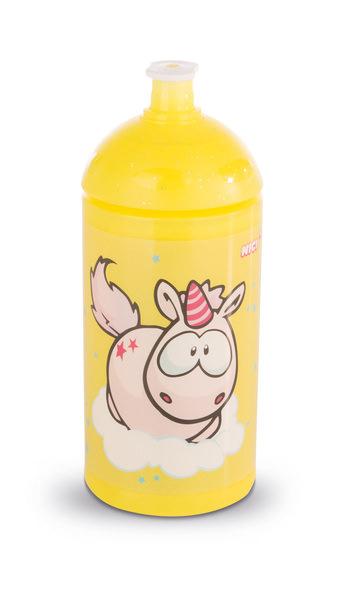 Trinkflasche gelb mit Einhorn Theodor