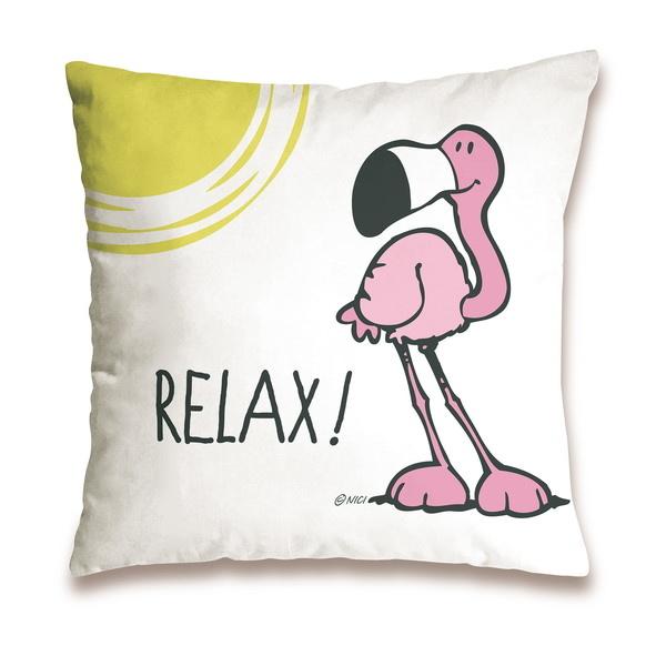 """Baumwollkissen Flamingo """"Relax"""""""