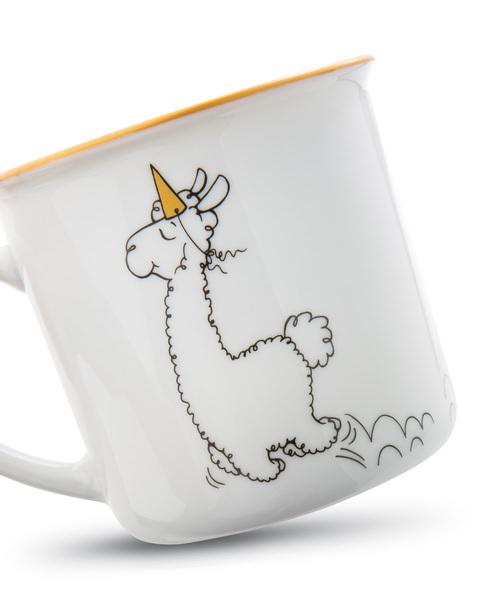 Porcelain mug metallic 'Gehe Deinen Weg'