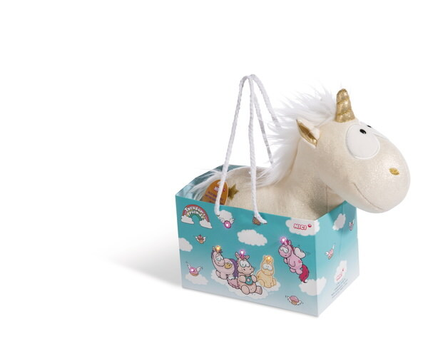 Cuddly toy unicorn Carbon Flash in LED bag