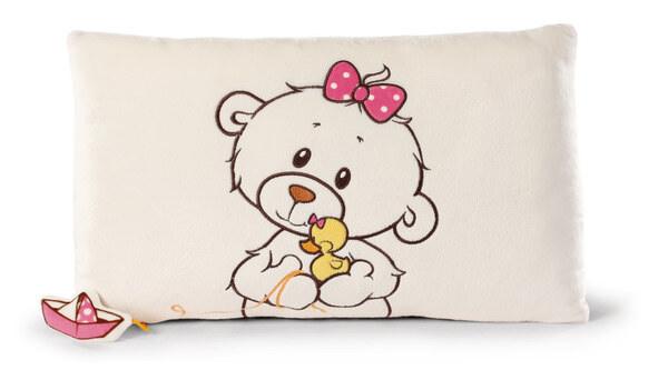 Rechteckiges Kissen kleine Bären-Schwester mit Ente Bootch