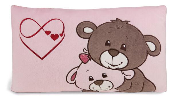 Rechteckiges Kissen Love Bären