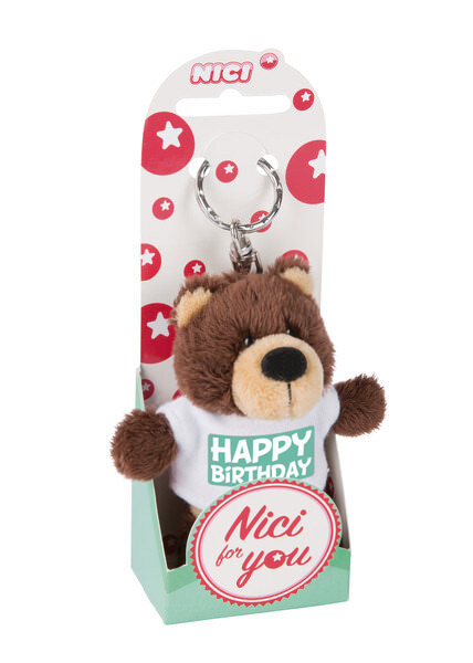 Keyring bear 'Happy Birthday'