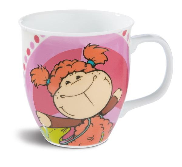 Porcelain mug with sheep Jolly Mellow and Jolly Jo