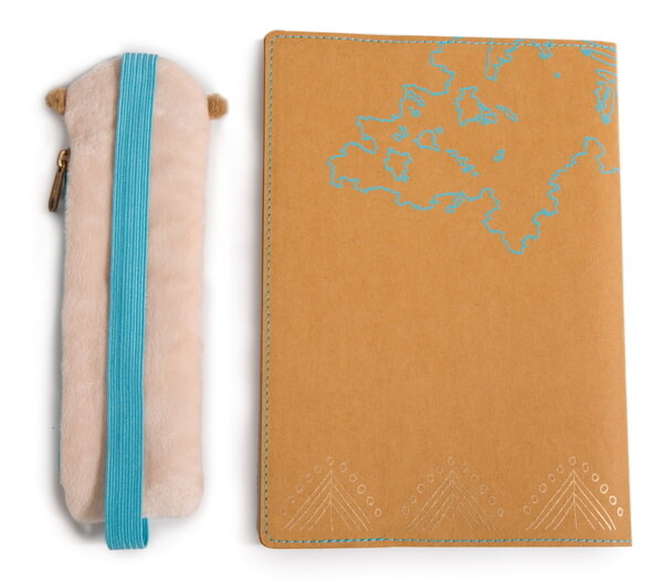 Notebook NICI Meerkat with removable cover and pencil pouch
