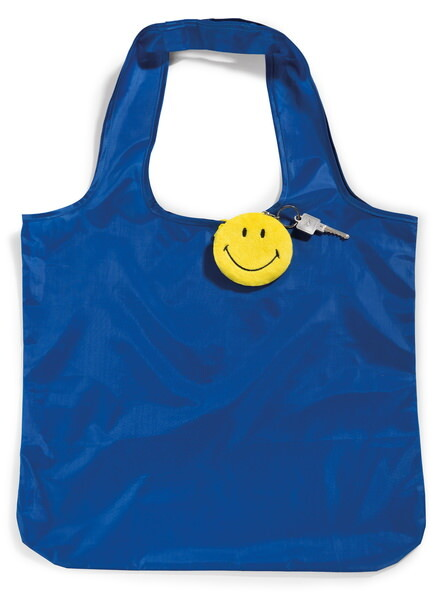 Foldable Smiley shopper with pendant