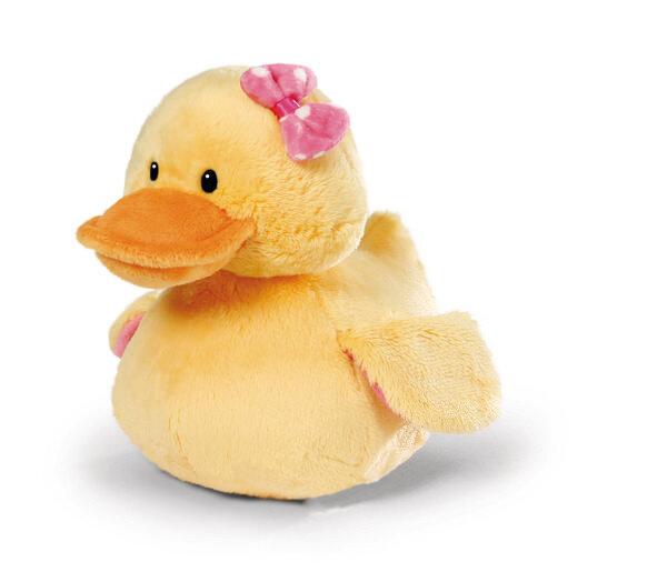 Kuscheltier Ente Bootch mit Quietsche
