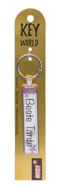 Schlüsselanhänger Key World 'Beste Tante'