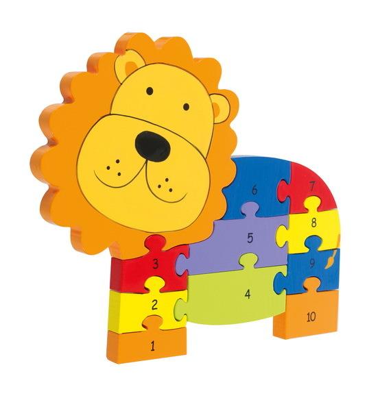 Zahlenpuzzle Löwe