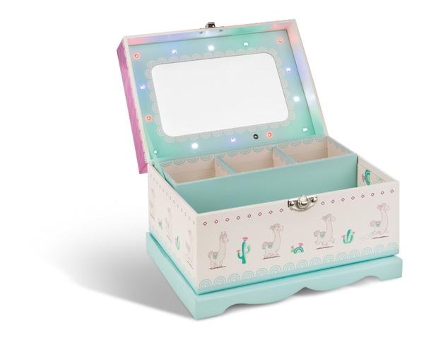 Jewellery box llama Flokatina with LEDs and mirror