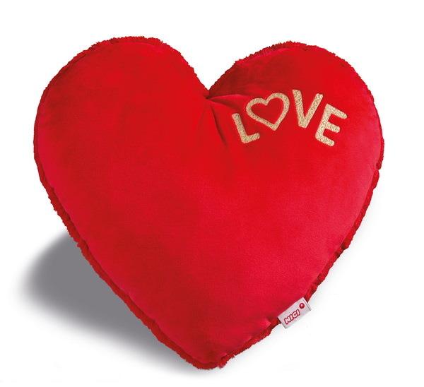 Großes Kissen in Herz-Form