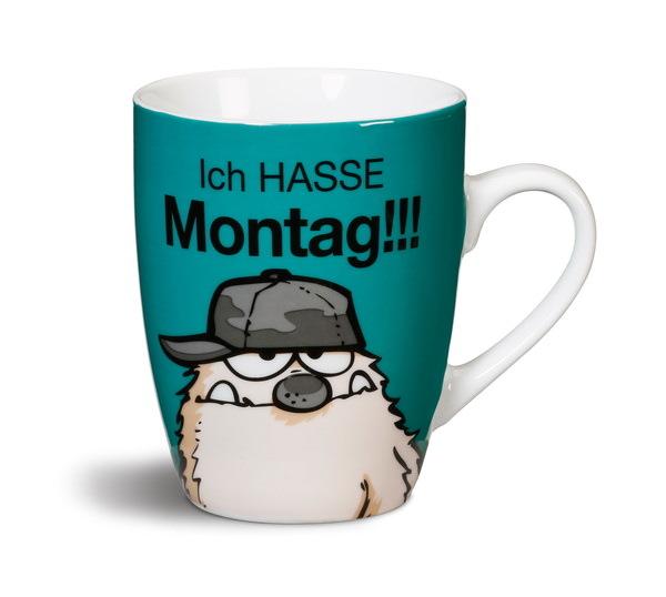 """Porzellantasse """"Ich hasse Montag!!!"""""""