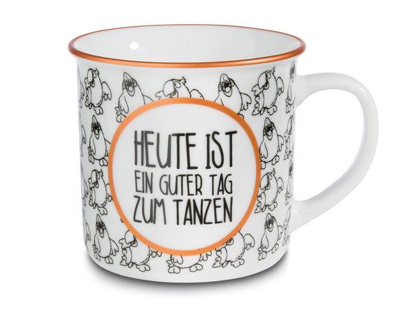Porcelain mug metallic 'Heute ist ein guter Tag zum Tanzen'