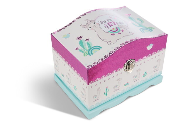 Jewellery box llama Flokatina with LEDs and mirror