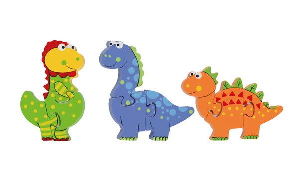 Mini Puzzle Set Dinosaurier