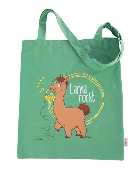 """Baumwolltragetasche """"Lama rockt"""""""