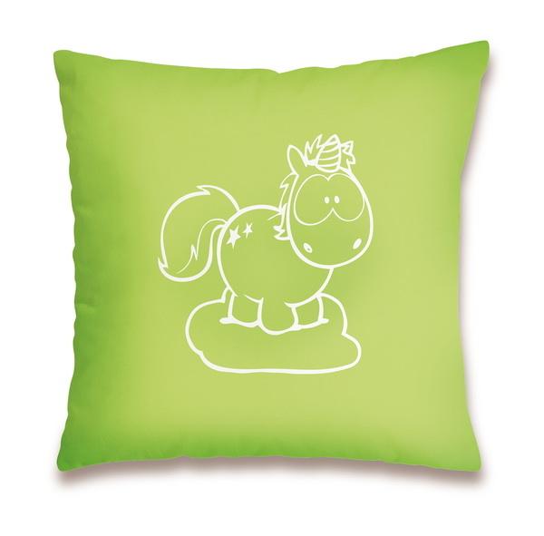 """Cotton cushion Theodor & Rainbow Flair """"1+1=Liebe"""""""