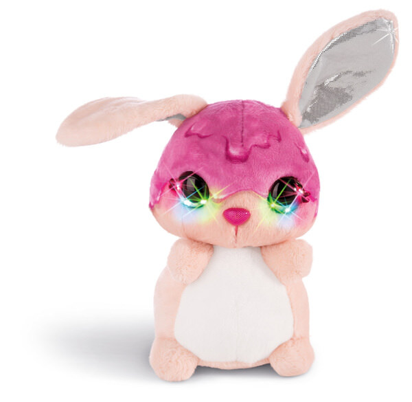 Flashies Kuscheltier Hase Tofflemoffle mit LED-Augen