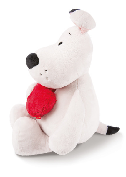 Kuscheltier Love Hund mit Herz
