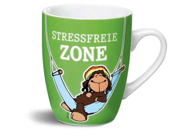 "Porzellantasse ""Stressfreie Zone"""