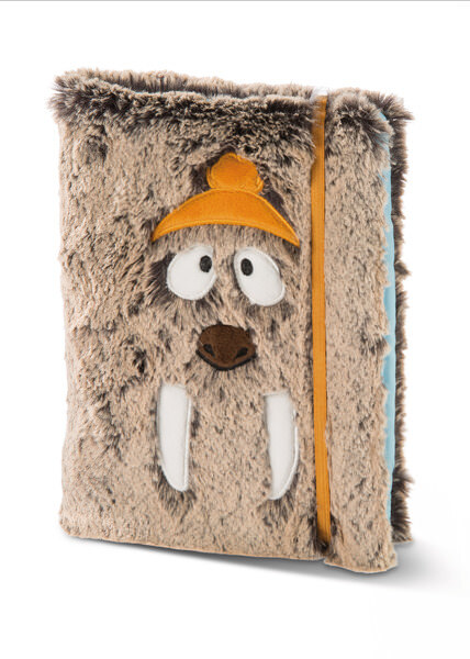 Blank book DIN A5 with removable plush cover Walross Walbo Wabbel
