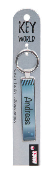 Keyring Key World 'Andreas'