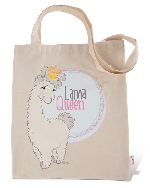 """Baumwolltragetasche """"Lama Queen"""""""