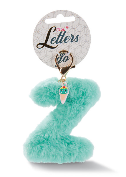 Plush pocket pendant letter Z with ice