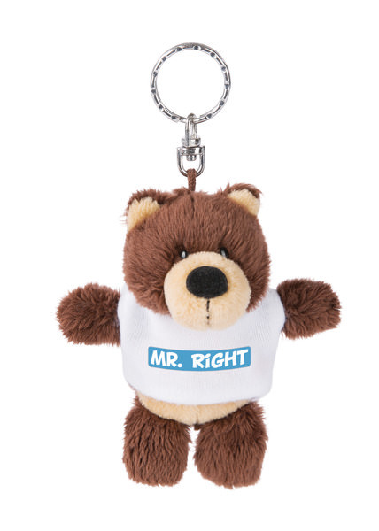 Keyring bear 'Mr Right'