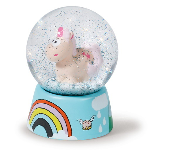 Snow globe Theodor and Friends unicorn Theodor