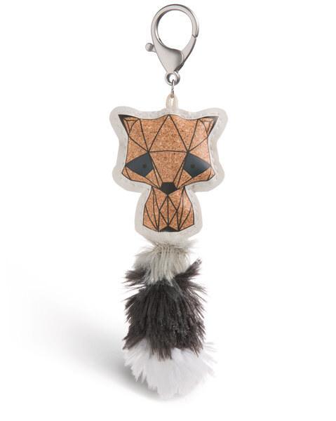 Taschenanhänger Guardian Animals Waschbär Kork-Optik aus Kunstleder