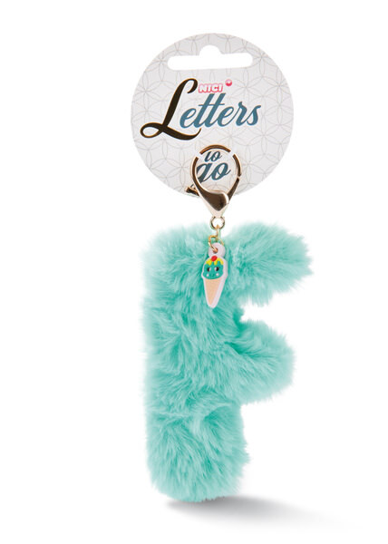 Plush pocket pendant letter F with ice