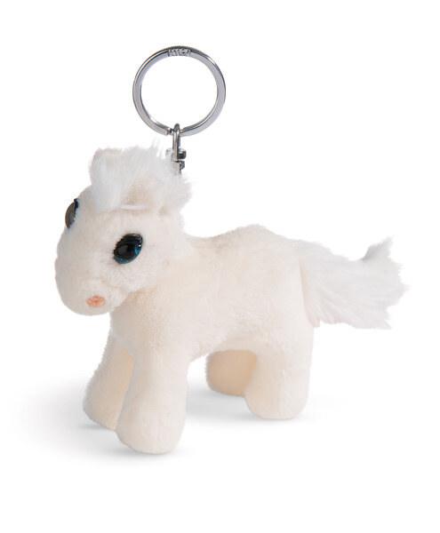Schlüsselanhänger stehendes Pferd White Peach