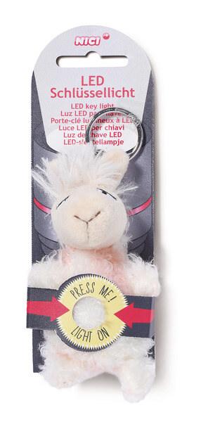 LED-Plüsch-Schlüssellicht Lama Flokatina
