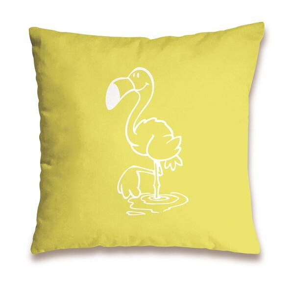 "Cotton cushion flamingo""Relax"""