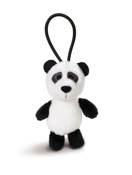 Pendant panda with elastic loop