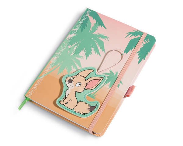Notebook Wild Friends with clip-motive fennec Fehmi