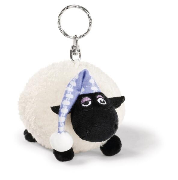 Schlüsselanhänger Schaf Shirley mit Schlafmütze