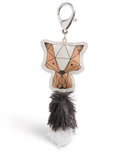 Taschenanhänger Guardian Animals Stinktier Kork-Optik aus Kunstleder