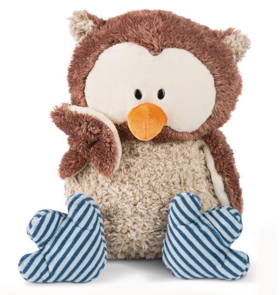 Cuddly Toy Owl Oscar with turnable head