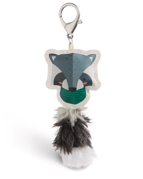 Taschenanhänger Guardian Animals Waschbär aus Kunstleder
