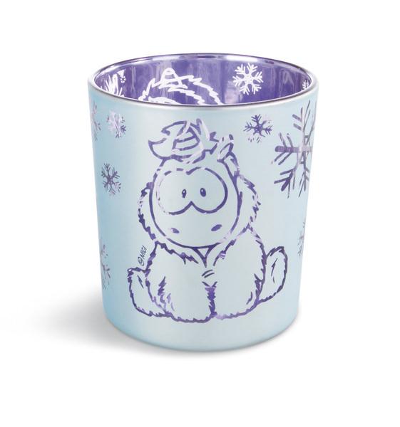 Kerzenglas Einhorn Snow Coldson