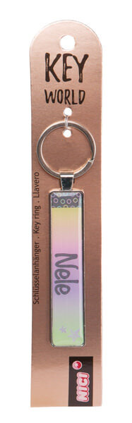 Keyring Key World 'Nele'