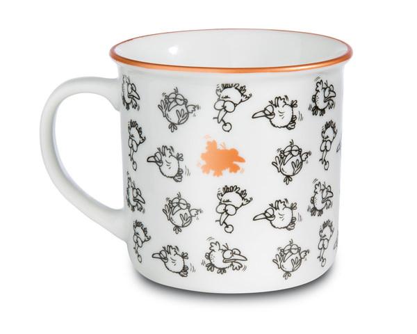 Porcelain mug metallic 'Don`t be normal'