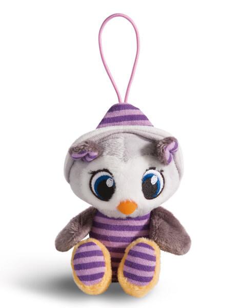 Pendant owl Olafina with elastic loop