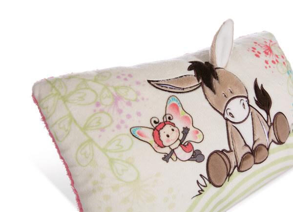 Rechteckiges Kissen Esel und Schmetterling
