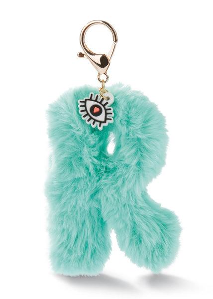 Plush pocket pendant letter R with eye