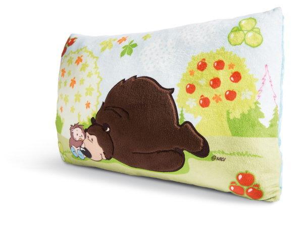 Rectangular cushion grizzly bear Criz Lee